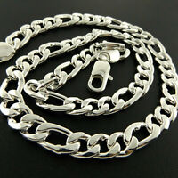 Necklace Chain 925 Sterling Silver S/F Solid Ladies Fine Curb Link Design 55CM