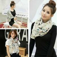 Fashion Women Lady Butterfly Print Neck Shawl Scarf Warm Wrap Stole Girl Scarves