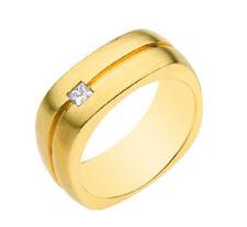 Classic Style Princess Cut Men's Diamond Ring 0.20 Carat 14k White Gold