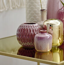 Vase rubinrot Keramik klein Höhe 10 cm Retro Nordic Skandinavisch Bloomingville