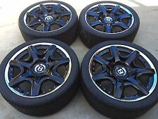 """20"""" NEW BLACK OEM ORIGINAL FACTORY BENTLEY MULLINER 2-PC FORGED WHEELS AND TIRES"""