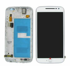 For Motorola Moto G4 Plus XT1642 White LCD Display Touch Screen with Frame UK