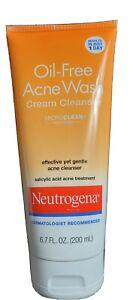 1x Neutrogena Oil-Free Acne Treatment Wash Cream Cleanser Results in 1 Day 6.7oz