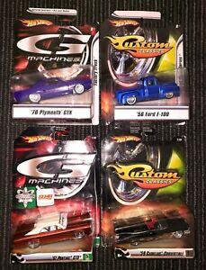 Hot Wheels Custom Classics / G Machines Sema Pontiac GTO Plus Others Lot of 4