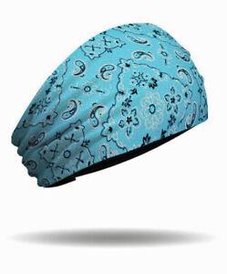 That's A Wrap! Women's Turquoise Foil Bandana Knotty Band Head Wrap KB1627