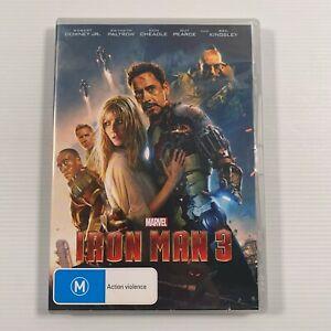 Iron Man 3 (DVD, 2013) Robert Downey Jr. Paul Bettany Region 4