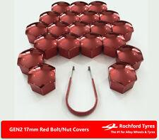 Tornillo Tuerca de rueda de Rojo Cubre GEN2 17 mm para Audi RS3 [8 V] 15-16