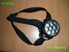 7 LED ADJUSTABLE LONG SHOTS HEADLAMP,AA BATTERY OPERATED.Brand New.3 Head Straps