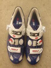 Sidi Ergo 2 Carbon EU 44 (US 10) Cycling road Shoes Blue /white 3-bolt spin