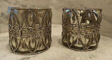 Set Of 2 Pottery Barn Mercury Glass Votive Candle Holders