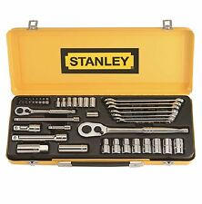 Stanley 49-Pc SOCKET & SPANNER SET w/ 1/4 & 1/2 Metric & AF Sockets *USA Brand