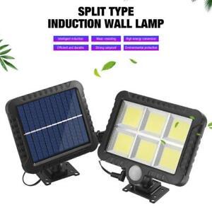 120LED COB Solarleuchte Solarlampe mit Bewegungsmelder Außen Fluter Wandstrahler