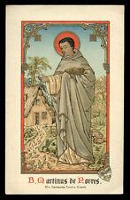 antico santino cromo-holy card S.MARTINO DE PORRES
