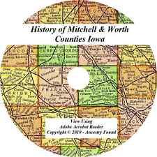 1884 History Genealogy MITCHELL & WORTH COUNTY IOWA Osage Manley Northwood IA