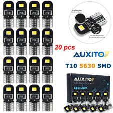 Auxito 20X T10 W5W Canbus 192 168 194 LED Light Xenon White 6000K 5730-SMD Bulbs