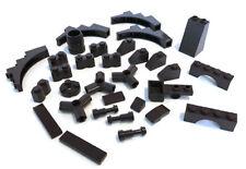 LEGO Dark Brown Bricks Mixed Bulk Lot 31 Pieces GOOD VARIETY Parts Plates Tiles