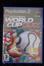 PS2 : THE ULTIMATE WORLD CUP QUIZ - Nuovo, risigillato ! Migliaia di domande !