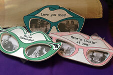 NEW EYE GLASS PICTURE FRAMES!! 3 piece set! Mini Picture Frame SHIPS FREE!