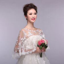 Bride Wedding Party Top lace tulle bridal shawl wrap stole shrug bolero jacket