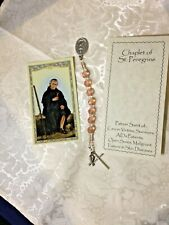 """ST.PEREGRINE ""BREAST"" CANCER CHAPLET"" Prayer Booklet, H.C. Hand-Designed  *NEW*"