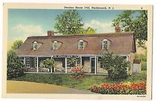 STEUBEN HOUSE 1752 HACKENSACK NEW JERSEY NJ Linen POSTCARD Free Ship!