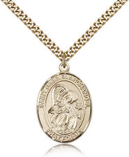 "Saint Gabriel The Archangel Medal For Men - Gold Filled Necklace On 24"" Chain..."