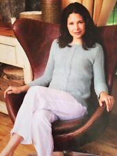 BK3 - KNITTING PATTERN - Woman's Moss Stitch Sweater Jumper - 6 Sizes 5 Ply