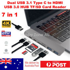 7 in 1 Type-c to 4k HDMI USB 3.1 Hub Adapter SD TF Card Reader for MacBook Pro