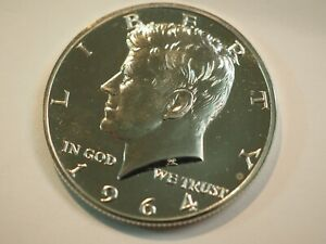 """1964-Proof Silver MR JOHN Kennedy  WITH """"ACCENTED  HAIR  """"Half Dollar TED    K15"""