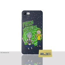 """Rick & Morty Case/Cover For iPhone 7 (4.7"""") Screen Protector / Silicone / Peace"""