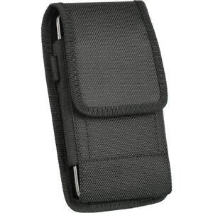 Belt Clip Luxmo Pouch Holster Phone Holder Vertical Black EVA
