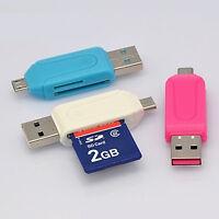 Micro USB 2.0 OTG Adapter SD T Speicherkartenleser für Smartphone NEU