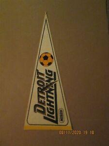MISL Detroit Lightning Vintage Defunct Circa 1979-80 Team Logo Soccer Pennant