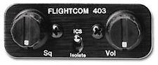 FLIGHTCOM 403 STEREO VOICE-ACTIVATED PANEL MOUNT INTERCOM 2 PLACE