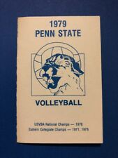 Penn State Volleyball 1979 Pocket Schedule