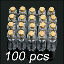New Lot of 100 pcs 2ml Size 16x35mm Small Tiny Clear Glass Bottle Vial with Cork