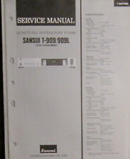 Sansui T909/910/L tuner service repair workshop manual (original copy)