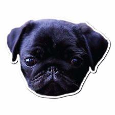 Black Pug Puppy Printed Vinyl Sticker