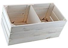 Große Holzkiste weiß - Vintage Look - Stiege - Steige - Deko - Regal