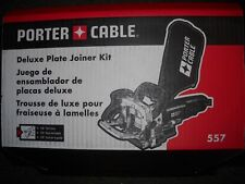 Porter Cable 557 10,000 RPM 120V Biscuit Deluxe Plate Joiner Kit 7-Position New