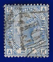 1881 SG157 2½d Blue Plate 23 J25 AF Solihull 719 Good Used CV £35 aagn