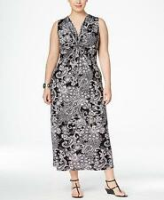 NY Collection Women's Plus Knot Front Maxi Dress NWT Size 2X MSRP $70 WD664