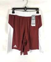 Adidas, Women's Commander 15, Burgundy/White Basketball Shorts, Size S, AC5087