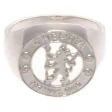 Official Football Club Sterling Silver Ring Xmas Gift Boxed Chelsea Medium