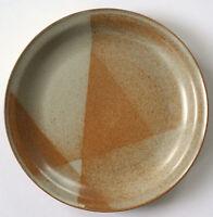 """IRON MOUNTAIN Stoneware White Top Dinner Plate USA Made 11"""""""