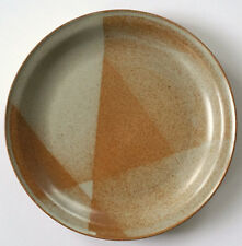 IRON MOUNTAIN Stoneware White Top Dinner Plate USA Made 11""