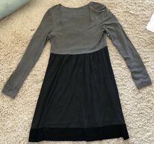 ONLY HEARTS gray grey black long sleeve scoop neck stretchy dress Sz Large L