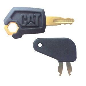 CAT Caterpillar Equipment Key Set  Ignition and Master Disconnect Keys with Logo