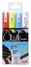 UNI Chalk Board Marcatori PWE-5M Medio Proiettile Tip al chiuso all'aperto-Confezione da 4