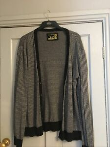 Mens River Island Long Sleeve Grey Cardigan Size L